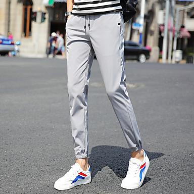 03806189c95 [$36.39] Ανδρικά Βράκα Pantaloni de Alergat Μαύρο Σκούρο μπλε Γκρίζο  Αθλητισμός Συμπαγές Χρώμα ...