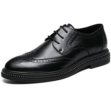 Muškarci Formalne cipele Sintetika Proljeće & Jesen Posao / Uglađeni Oksfordice Non-klizanje Crn / Braon / Svečane cipele