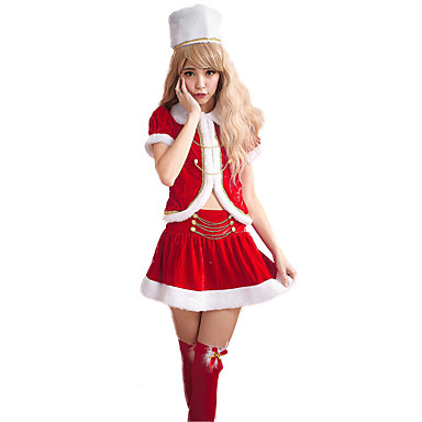 a52d623618 Cosplay Costume Santa Clothes Teen Adults  Women s Christmas Christmas New  Year Festival   Holiday Velour Red Carnival Costumes Holiday 7041985 2019 –  ...