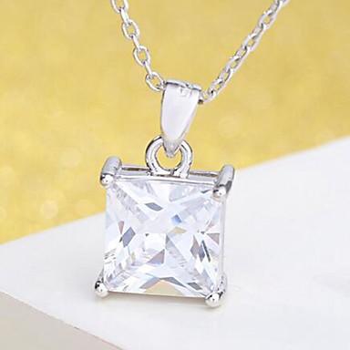 povoljno Modne ogrlice-Žene Kubični Zirconia Privjesci 3D faceter dame Stilski Klasik Broš Jewelry Pink Za Dnevno Svečanost