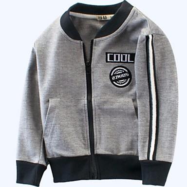 povoljno Odjeća za dječake-Dijete koje je tek prohodalo Dječaci Osnovni Print Dugih rukava Jakna i kaput Sive boje