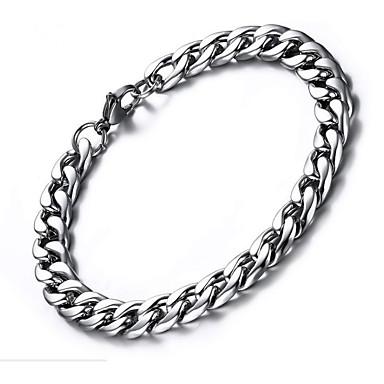 levne Pánské šperky-Pánské Náramek Silný řetězec Kancelářská svorka Jednoduchý Módní Nerezové Náramek šperky Stříbrná Pro Dar Denní
