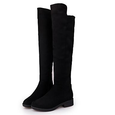 2b50fd2d402b SW 5050 Women s Suede Winter Boots Flat Heel Closed Toe Knee High Boots  Black 7025200 2019 –  34.99