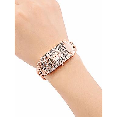 povoljno Ženski satovi-Žene Luxury Watches Ručni satovi s mehanizmom za navijanje Diamond Watch Kvarc Nehrđajući čelik Rose Gold 30 m Vodootpornost New Design Analog dame Vintage Moda - Pink Rose Gold