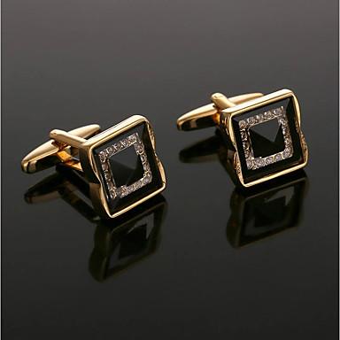 voordelige Herensieraden-Manchetknopen Nette kleding Kristal Broche Sieraden Gouden Voor Formeel