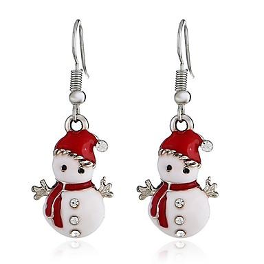 levne Dámské šperky-Dámské Visací náušnice Dlouhé 3D dámy Sladký Štras Náušnice Šperky Stříbrná Pro Vánoce 1 Pair