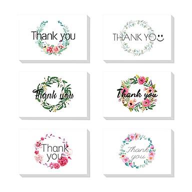 Side Fold Vjenčanje Pozivnice Thank You Cards Umjetnički stil Čisti papir