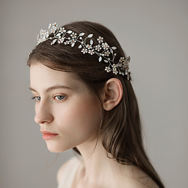 Umjetno drago kamenje Trake za kosu s Cvjetni print 1 komad Vjenčanje / Zabava / večer Glava