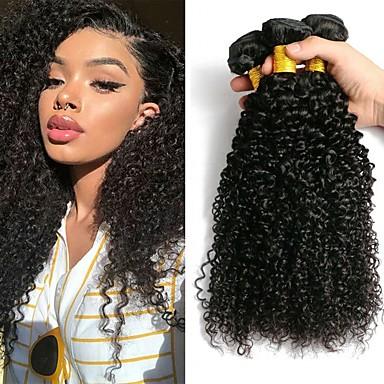 3 paketa Peruanska kosa Kinky Curly Ljudska kosa Netretirana  ljudske kose Ljudske kose plete Styling kose Produžetak 8-28 inch Prirodna boja Isprepliće ljudske kose novorođenče Najbolja kvaliteta
