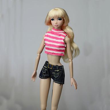 levne Doplňky pro panenky-Oblečení pro panenky Doll Pants Kalhoty Topy Pro Barbie Módní Růžová Netkaná textilie Látka Bavlněné tkaniny Vrchní deska / Kalhoty Pro Dívka je Doll Toy