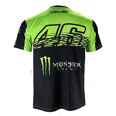 billige Motorsykkel & ATV tilbehør-motogp t-skjorte ridning dresser motorsykkel vr46 ridder locy bomull kortærmet racing dress t-skjorte