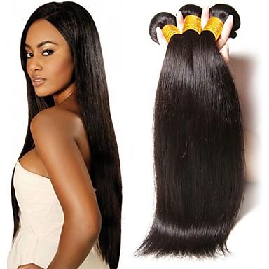 3 paketa Peruanska kosa Ravan kroj Virgin kosa Netretirana  ljudske kose Headpiece Ljudske kose plete Styling kose 8-28 inch Prirodna boja Isprepliće ljudske kose Nježno Svilenkast Smooth Proširenja