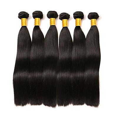 baratos Extensões para Cabelos-6 pacotes Cabelo Malaio Liso Cabelo Humano 300 g Cabelo Humano Ondulado Cabelo Bundle Um Pacote de Solução 8-28 polegada Natural Côr Natural Tramas de cabelo humano Sedoso Suave Melhor qualidade