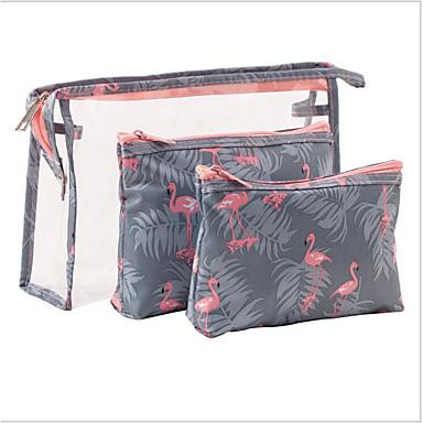 preiswerte Wasserdichte Taschen-Wasserdicht PVC Reißverschluss Kosmetik Tasche Alltag Grau / Himmelblau / Rosa