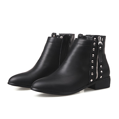 f732cd839236 Women s Suede Fall   Winter Casual   Minimalism Boots Low Heel Closed Toe  Booties   Ankle Boots Black   Gray   Brown 7021066 2019 –  39.99