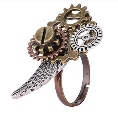 billige Motering-Dame Ring 1pc Gull Legering Geometrisk Form damer Steampunk Kinetic Daglig Ferie Smykker Vintage Stil Utstyr Kul