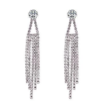 Žene Viseće naušnice Long Teniski lanac dame Europska Moda Umjetno drago kamenje Naušnice Jewelry Pink Za Zabava / večer Spoj 1 par