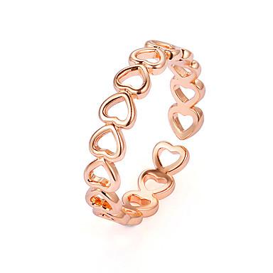 billige Motering-Dame Ring Tail Ring 1pc Gull Sølv Kobber Legering damer Enkel Klassisk Gave Daglig Smykker Klassisk Hul Hjerte Hollow Heart Søtt Heart