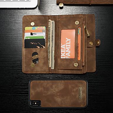ケース 用途 Apple iPhone XS Max ウォレット / カードホルダー / スタンド付き フルボディーケース ソリッド ハード PUレザー