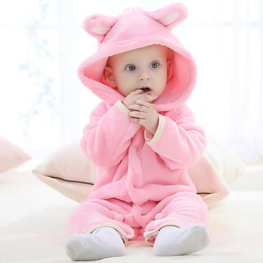 povoljno Odjeća za bebe-5 komada / 6 komada Dijete Djevojčice Aktivan / Osnovni Dnevno Jednobojni Rukava do lakta Regularna Normalne dužine Sleepwear Braon / Dijete koje je tek prohodalo