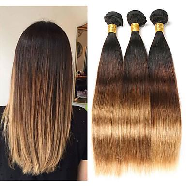 3 paketa Malezijska kosa Ravan kroj Remy kosa Ekstenzije od ljudske kose 8-26 inch Isprepliće ljudske kose Nježno Najbolja kvaliteta Novi Dolazak Proširenja ljudske kose / 10A