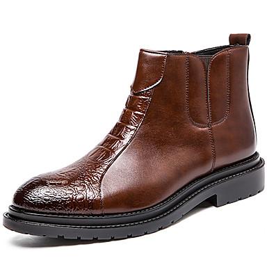 Muškarci Fashion Boots Sintetika Zima Posao / Uglađeni Čizme Water Proof Čizme gležnjače / do gležnja Crn / Braon / Ured i karijera / Vojničke čizme