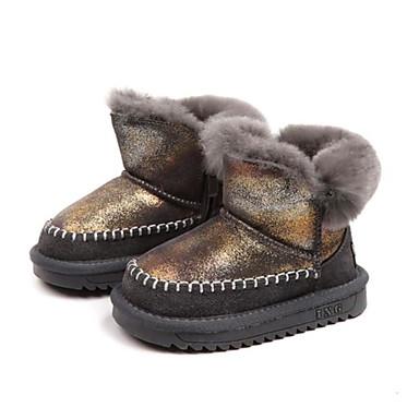 Chica Zapatos Piel De Conejo Ante Invierno Botas De Nieve Botas