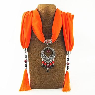 povoljno Modne ogrlice-Žene Ogrlica od šalova Long dame pomodan Hiperbola Etnikai Poly / Cotton Legura Lila-roza Svijetlo zelena Tamno zelena 180 cm Ogrlice Jewelry 1pc Za Dar Maškare