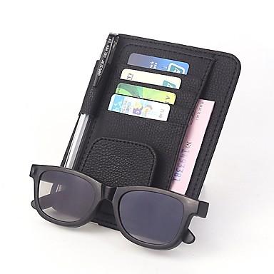 billige Interiørtilbehør til bilen-universell bil auto visir arrangør holder pu skinnveske for kortglass biltilbehør solvisir organizador bilstyling