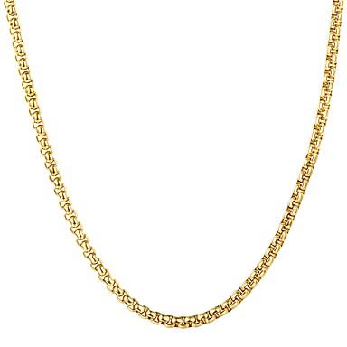 povoljno Modne ogrlice-Muškarci Ogrlice s privjeskom Poveznica / lanac Moda Tikovina Crn Zlato Srebro 55 cm Ogrlice Jewelry 1pc Za Dar Dnevno
