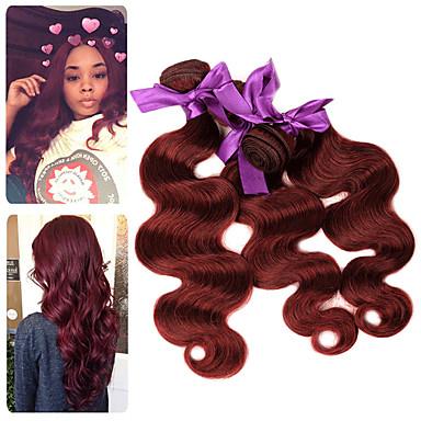 povoljno Ekstenzije od ljudske kose-3 paketa Malezijska kosa Tijelo Wave Remy kosa Ekstenzije od ljudske kose 10-26 inch Isprepliće ljudske kose Nježno Najbolja kvaliteta Novi Dolazak Proširenja ljudske kose / 10A