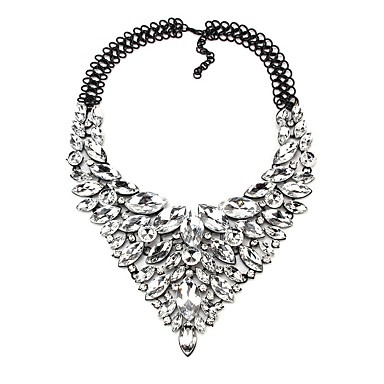 povoljno Modne ogrlice-Žene Sapphire Sintetički dijamant Y Ogrlica Ispustiti dame Klasik Hiperbola Legura Duga Crvena Plava 48 cm Ogrlice Jewelry 1pc Za Vjenčanje Party