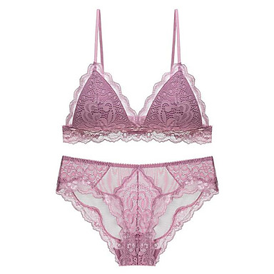 dc1250ba3f Women s Normal Sexy 3 4 Cup Bras   Panties Sets Push-up - Embroidered  7043665 2019 –  23.74