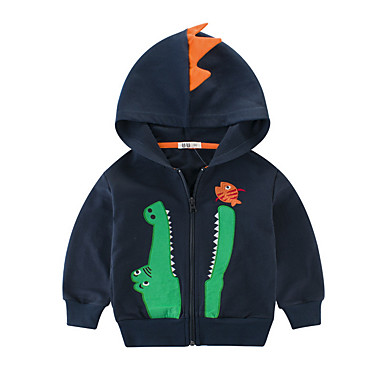cheap Boys' Jackets & Coats-Kids Boys' Basic Daily Solid Colored Long Sleeve Cotton Down & Cotton Padded Blue