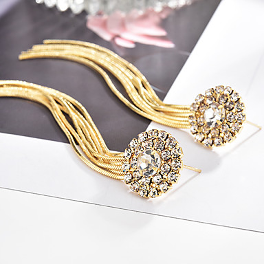 1cba64b3c81c Mujer Diamante Zirconia Cúbica diamante pequeño Largo Pendientes colgantes  Brillante Aretes damas Lujo Borla Vintage Joyas Dorado   Negro   Plata Para  Boda ...