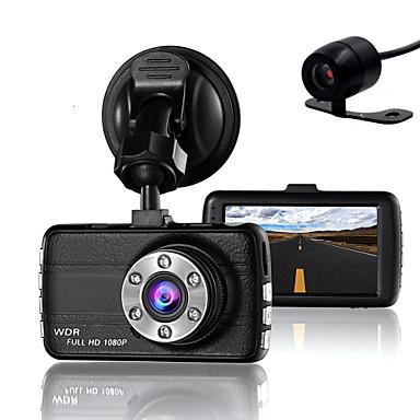 billige Bil-DVR-dobbelt linse dash kamera kamera dvr bil for drivere full HD 1080 p opptaker kamera med nattesyn g-sensor