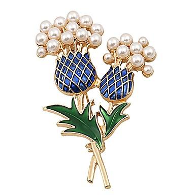 Žene Biseri Broševi Cvijet dame Umjetnički Jednostavan Za majku Imitacija bisera Broš Jewelry Zlato Za Dnevno