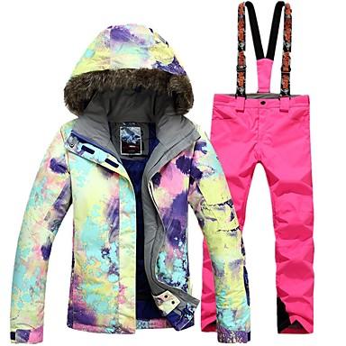 f19d3e4773 GSOU SNOW Women s Ski Jacket with Pants Ski Skiing Winter Sports Winter  Sports POLY Clothing Suit Ski Wear 7002153 2019 –  199.99