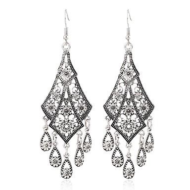 preiswerte Vintage Ohrringe-Damen Tropfen-Ohrringe Hängende Ohrringe damas Retro Süß Ohrringe Schmuck Silber Für Alltag Festival 1 Paar