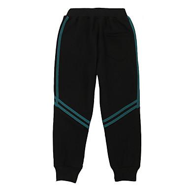 povoljno Odjeća za dječake-Djeca Dječaci Osnovni Dnevno Sport Jednobojni Pamuk Hlače Crn