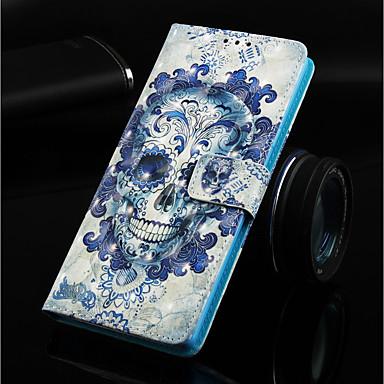 Θήκη Za Huawei Huawei Note 10 / Huawei Honor 10 / Huawei Honor 8X Novčanik / Utor za kartice / sa stalkom Korice Lubanje Tvrdo PU koža