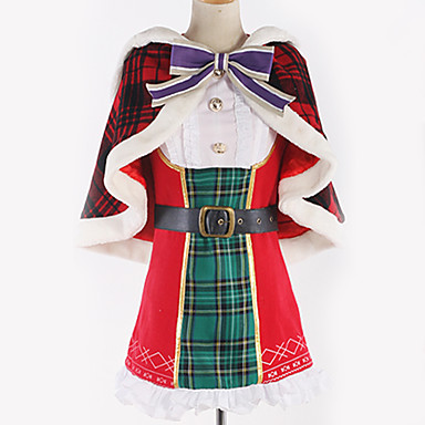Inspired by Love Live Cosplay Anime Cosplay Costumes Japanese Cosplay Suits Solid Colored / Plaid / Checkered Dress / Shawl / Bow For Men's / Women's