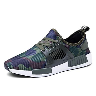 Ανδρικά Παπούτσια άνεσης Ελαστικό ύφασμα Φθινόπωρο & Χειμώνας Αθλητικό Αθλητικά Παπούτσια Αναπνέει Μαύρο / Πράσινο Χακί