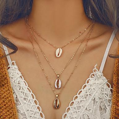 povoljno Modne ogrlice-Žene slojeviti Ogrlice Duga ogrlica Više slojeva dame Europska pomodan Bikini Legura Zlato 41 cm Ogrlice Jewelry 1pc Za Izlasci Voljeni