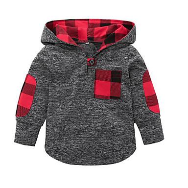 preiswerte Kapuzenpullover & Sweatshirts für Babys-Baby Mädchen Retro Solide Langarm Kapuzenpullover Weiß