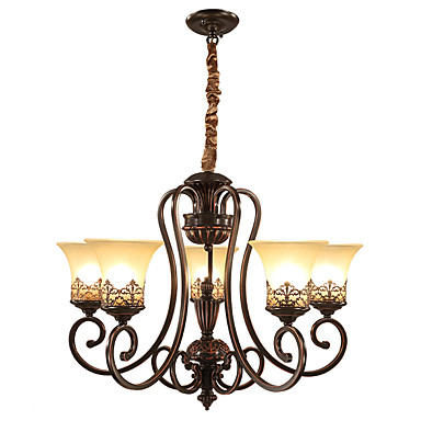 Ecolight™ 5-Light Ljuskronor Glödande Målad Finishes Metall Glas stearinljus stil 110-120V / 220-240V / E26 / E27