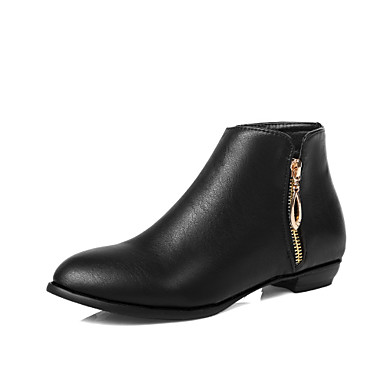 5600fade52c9 Women s PU(Polyurethane) Fall   Winter Classic   Minimalism Boots Low Heel  Round Toe Booties   Ankle Boots Black   Almond 7029471 2019 –  39.99
