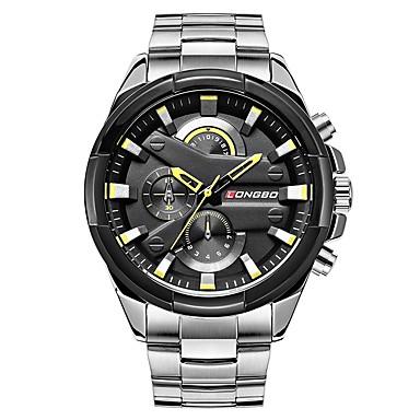 levne Pánské-LONGBO Pánské Hodinky k šatům Náramkové hodinky japonština Japonské Quartz Velkoformátové Nerez Stříbro 30 m Voděodolné Cool Analogové Klasické Módní - Bílá Černá