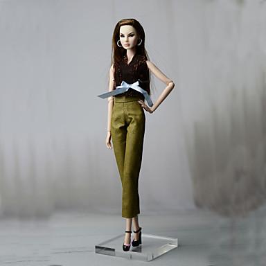 levne Doplňky pro panenky-Oblečení pro panenky Doll Pants Kalhoty Topy Pro Barbie Módní Kávová Netkaná textilie Látka Bavlněné tkaniny Vrchní deska / Kalhoty Pro Dívka je Doll Toy