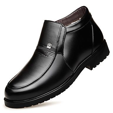 Muškarci Čizme za snijeg Sintetika Jesen zima Klasik / Ležerne prilike Čizme Ugrijati Čizme gležnjače / do gležnja Crn / Ured i karijera / Vojničke čizme